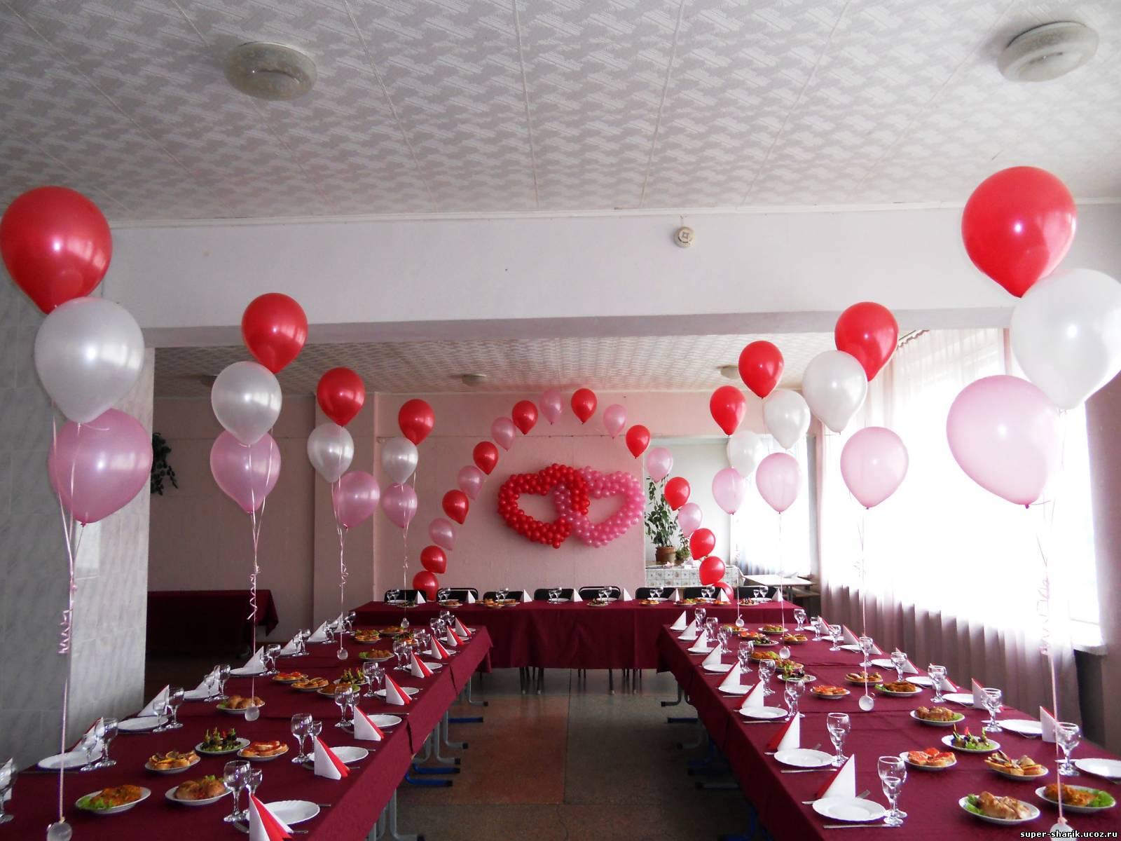 Как украсить зал на шарами своими руками 573